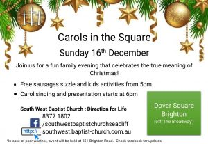 Carols in the Square 2018